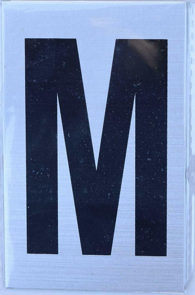 Apartment Number Sign - Letter M