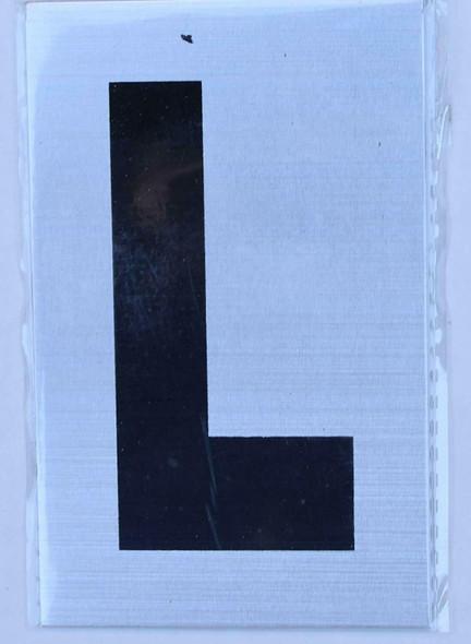 Apartment Number Sign - Letter L