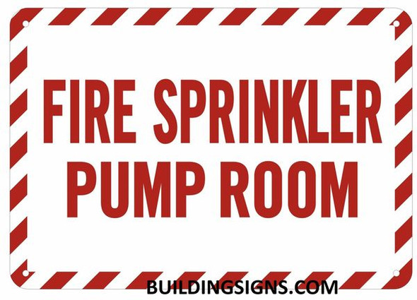 FIRE Sprinkler Pump Room Sign