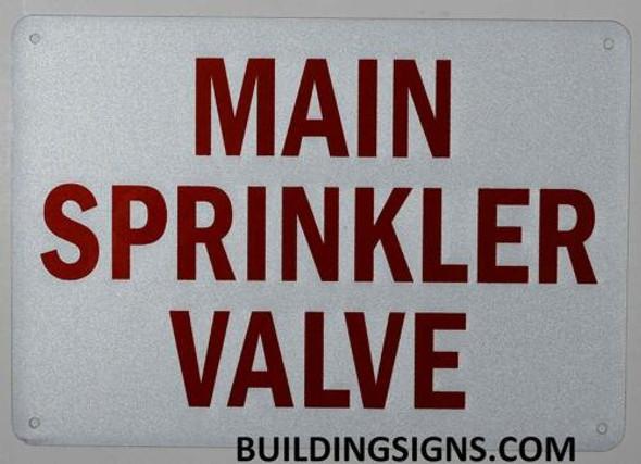 Main Sprinkler Valve Signage