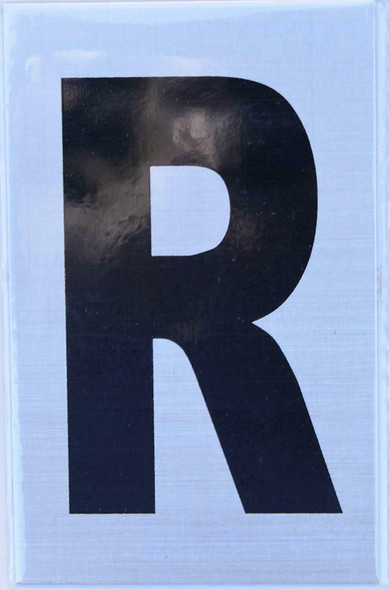 Apartment Number Sign  - Letter R