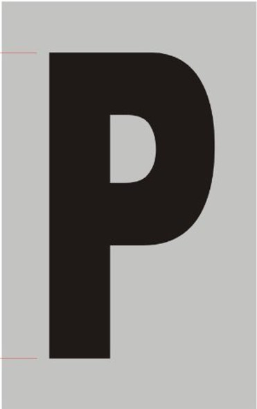 Apartment Number Sign  - Letter p