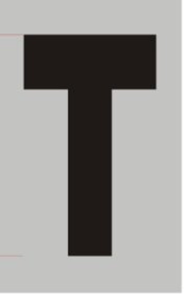 Apartment Number Sign - Letter T