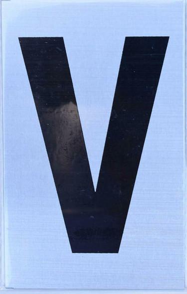 Apartment Number Sign - Letter V