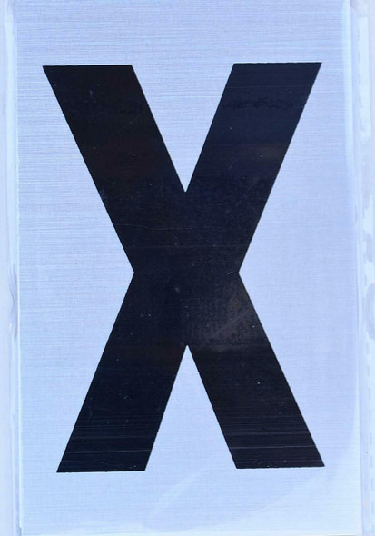 Apartment Number Sign  - Letter X