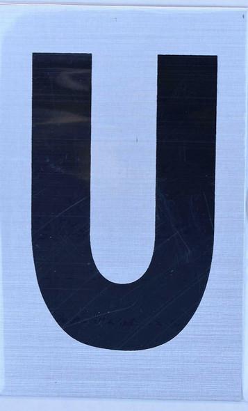 Apartment Number Sign - Letter U