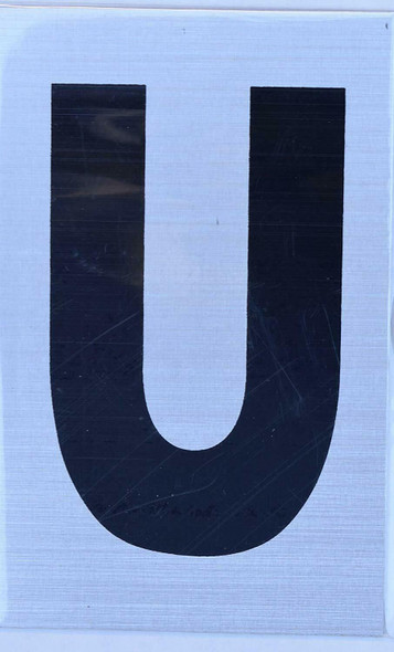 Apartment Number Sign  - Letter U