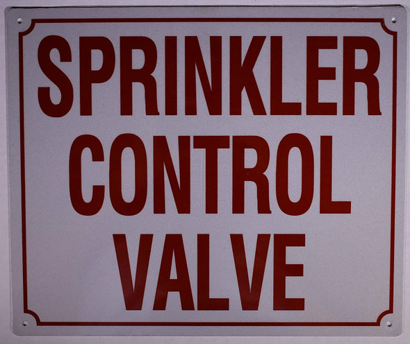 Sprinkler Control Valve Sign
