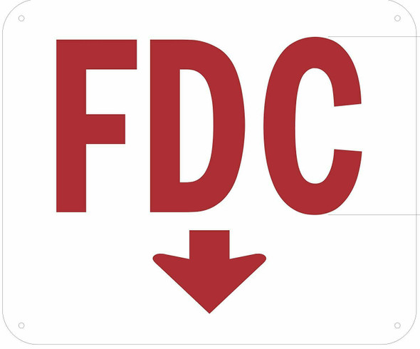 FDC Arrow Down Sign