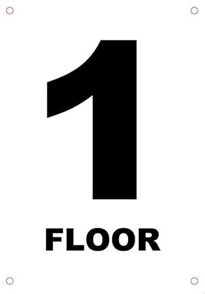 Floor number 1 sign