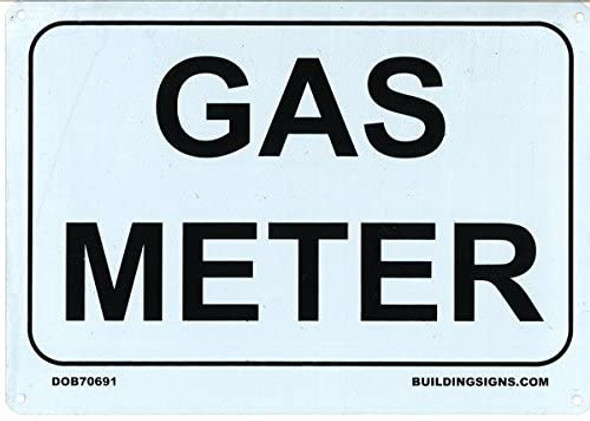 GAS METER Sign (,Rust Free Aluminum )
