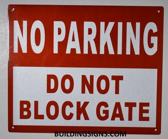 NO Parking DO NOT Block Driveway Sign
