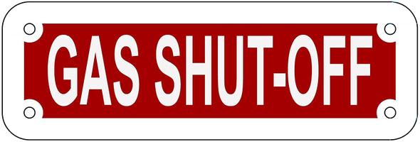 GAS SHUT-OFF SIGN