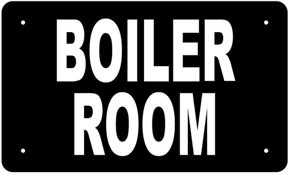 BOILER ROOM SIGN (BLACK Aluminium rust free)