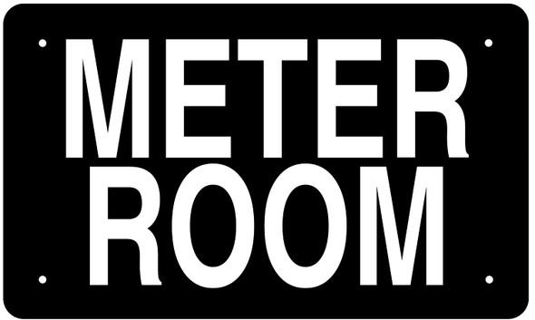 METER ROOM SIGN (BLACK Aluminium rust free)