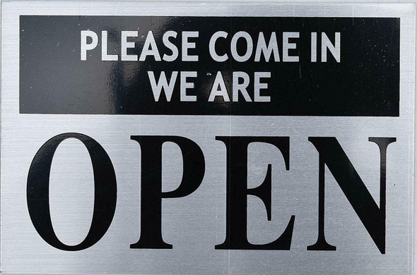 Please Come in WE are Open Sign