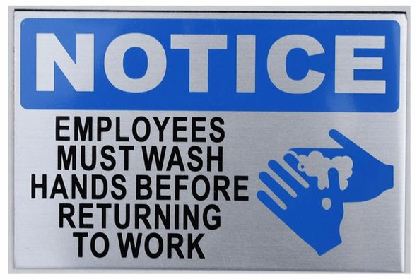 Employees Must WASH Hands Before Returning