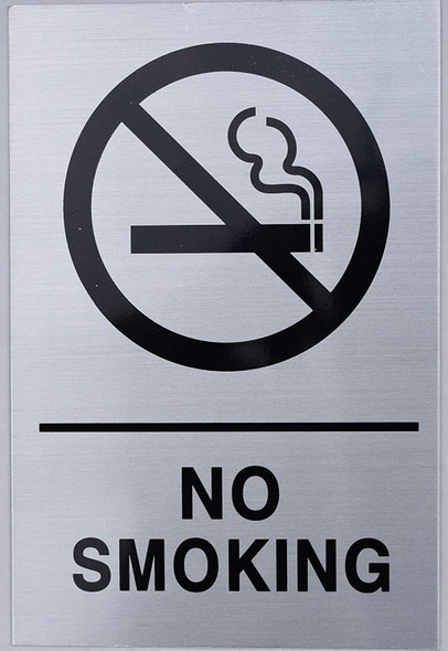 NYC NO Smoking Sign - Silver