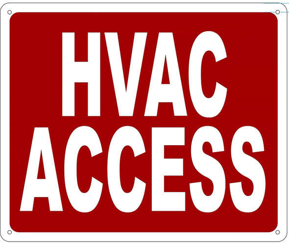 HVAC ACCESS SIGN