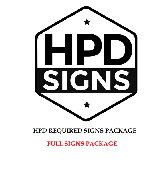 hpd signs package