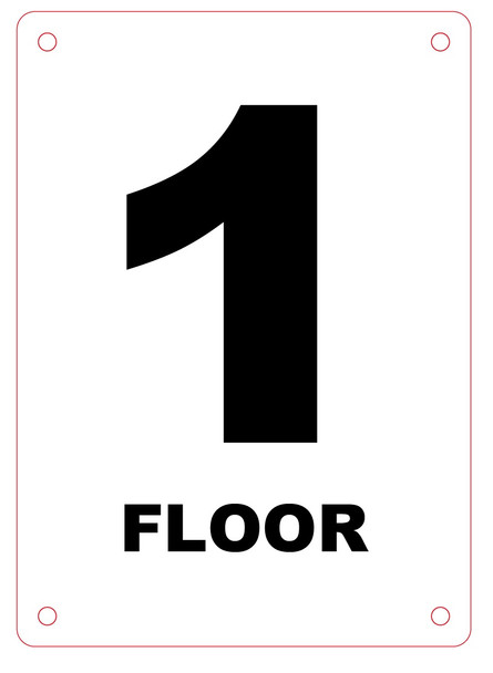 FLOOR NUMBER ONE SIGN