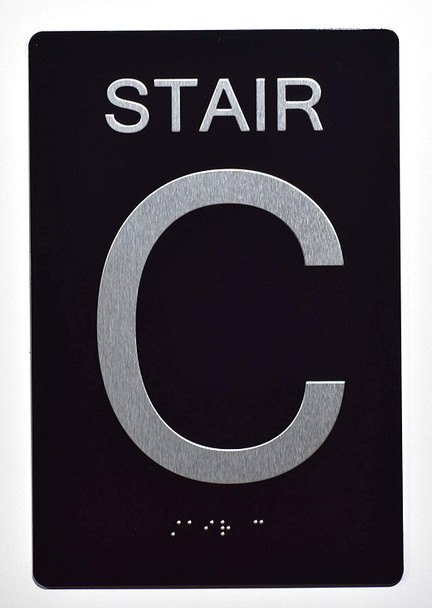 Stair C  -Stair Number  Black (Aluminium, Black/Silver) The Sensation line