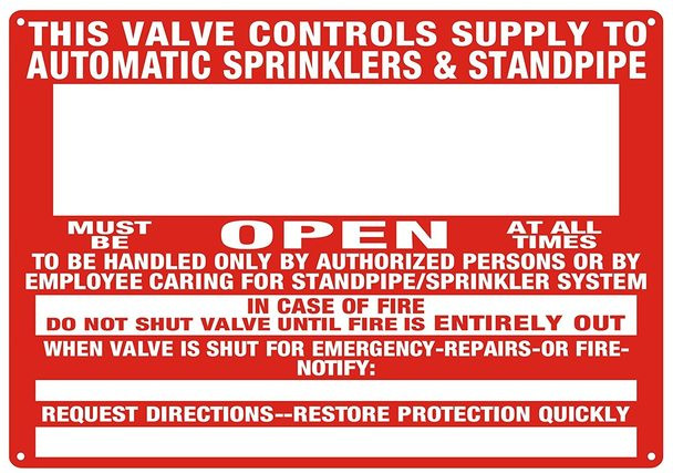 This Valve Control Supply to Automatic Sprinkler and Standpipe