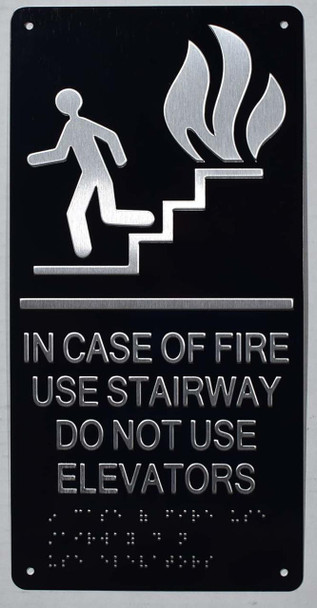 In CASE of FIRE USE Stairway DO NOT USE Elevator  -Tactile s Tactile s -The Sensation line