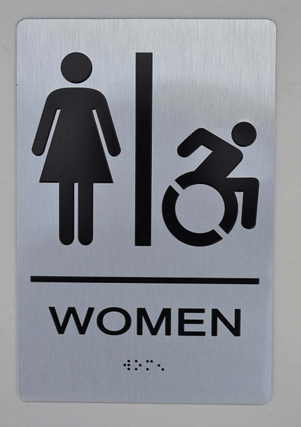 NYC Women Accessible Restroom  -Tactile s The Sensation line
