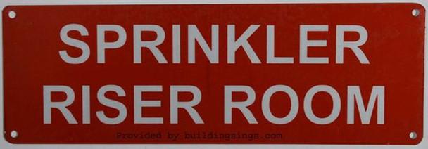 Sprinkler Riser Room Sign Reflective