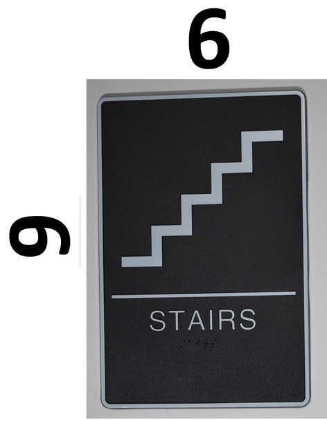 STAIRS Sign- The Standard ADA line Ada Sign
