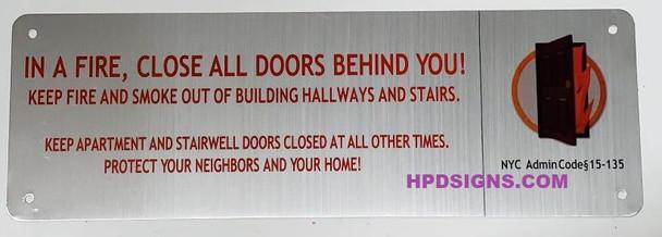 shut the door sign nyc