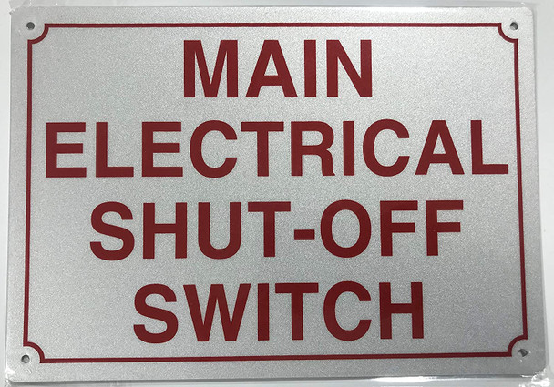 Main Electrical Shut Off Switch Signage