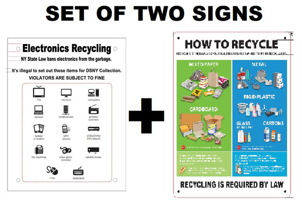 nyc recycle sign