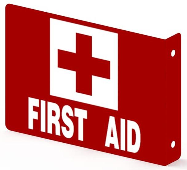 First AID Projection Sign-First AID Projection 3D Sign  Aluminium,