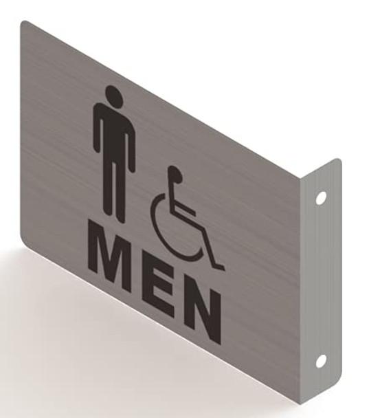 Men ACCESSABLE Restroom Projection Sign- Men ACCESSABLE Restroom 3D Sign