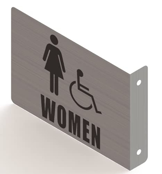 Women ACCESSABLE Restroom Projection Sign- Women ACCESSABLE Restroom 3D Sign