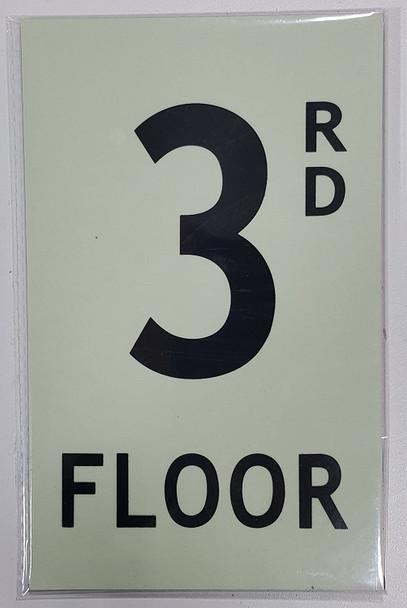 """Floor number / GLOW IN THE DARK """"FLOOR NUMBER"""""""