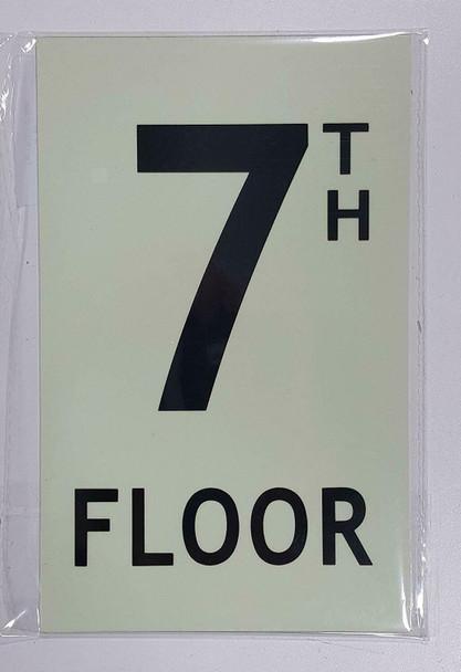 """Floor number Seven (7) / GLOW IN THE DARK """"FLOOR NUMBER"""""""