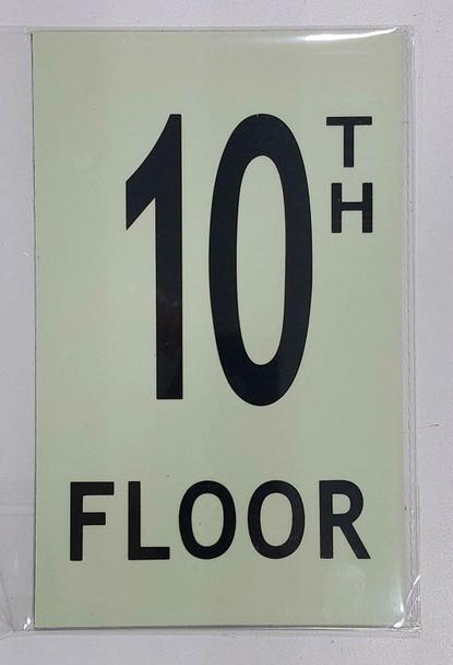 """Floor number TEN (10) / GLOW IN THE DARK """"FLOOR NUMBER"""""""