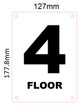 SIGN FLOOR NUMBER FOUR