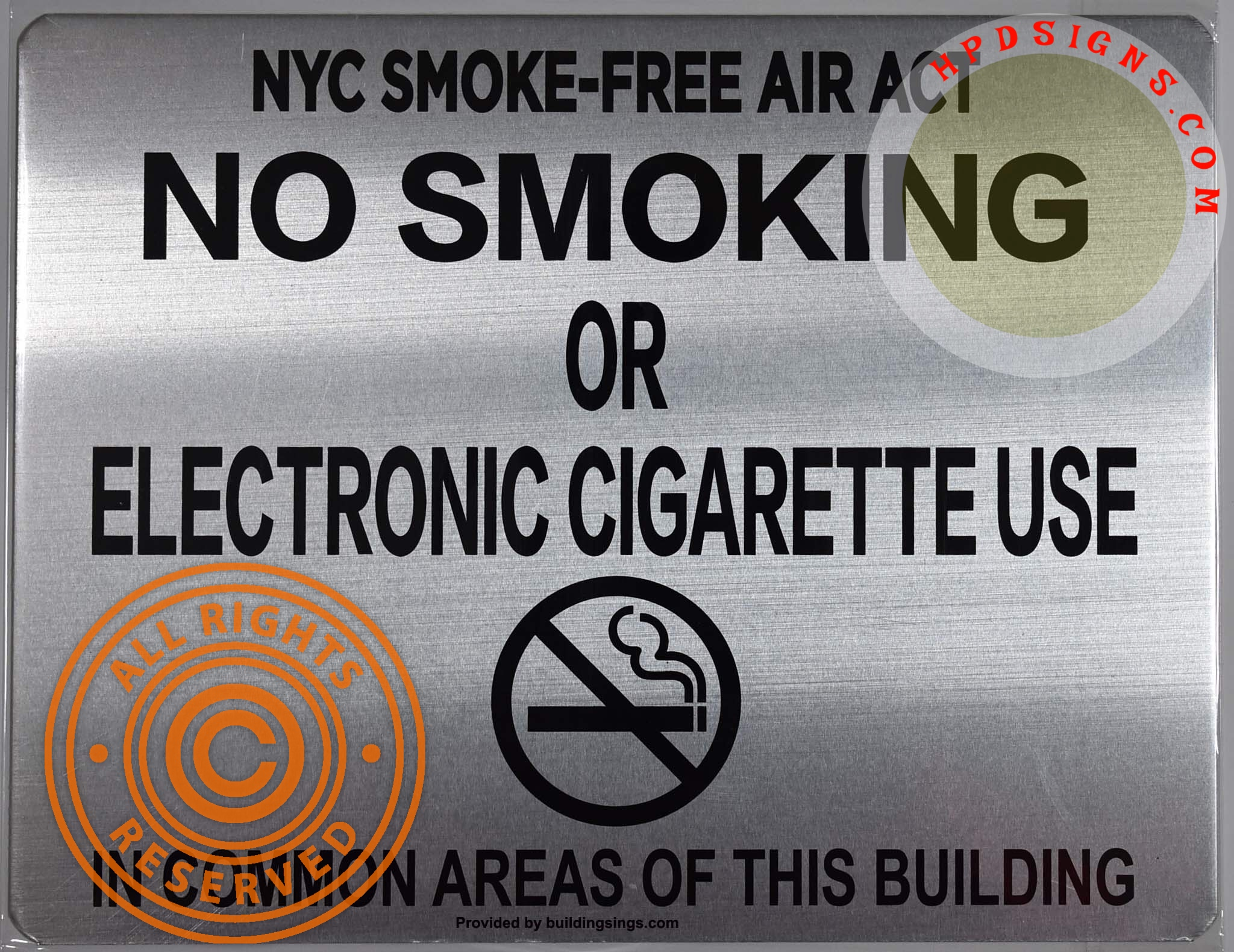 NYC HPD NO SMOKING SIGN