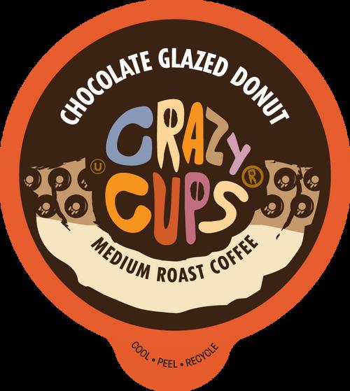 Chocolate Glazed Donut By Crazy Cups