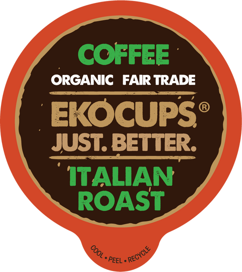 Italian Roast Organic Coffee by EKOCUPS