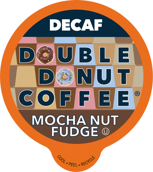 Decaf Mocha Nut Fudge Flavored Coffee by Double Donut