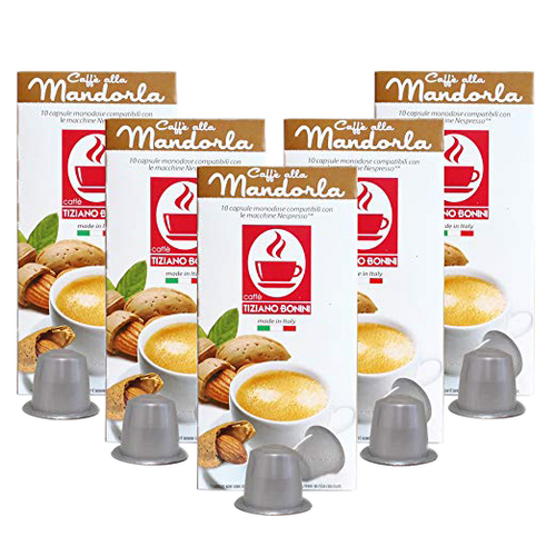 Mandorla -Almonds Nespresso Flavored Espresso, 50 Count by Caffe Bonini