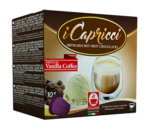 Caffe Vaniglia - Vanilla Coffee Hot Chocolate Nespresso, 50 Count by Caffe Bonini