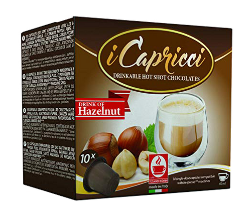 Hazelnut Nespresso Flavored Espresso, 50 Count by Caffe Bonini