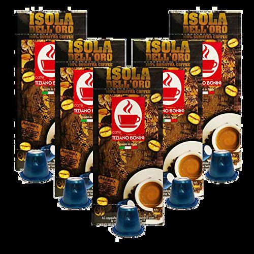 Isola Dell' oro Nespresso Espresso, 50 Count by Caffe Bonini