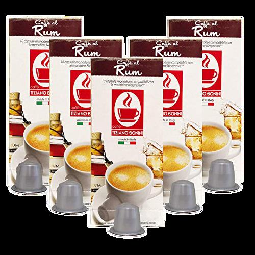 Rum Nespresso Flavored Espresso, 50 Count by Caffe Bonini